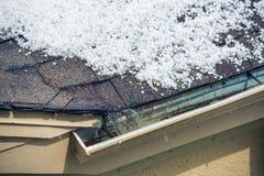 Hagel auf dem Dach Lizenzfreies Stockfoto
