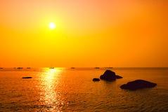 Hagelnde Insel von Yangjiang, Guangdong Sonnenuntergang Lizenzfreies Stockfoto