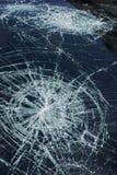 Hagelschade aan windscherm Royalty-vrije Stock Foto's