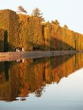 Hagen door meer in de herfst Stock Foto
