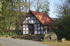 Hagen, Osnabrueck country, Gellenbecker mill in Lower Saxony, Germany Royalty Free Stock Photography