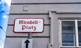 Hagenau Vierkant teken Stock Foto
