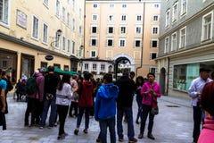 Hagenauvierkant in Salzburg Royalty-vrije Stock Afbeeldingen