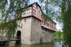 Hagenwil Castle. Is a moated castle located in the town of Amriswil of the Canton of Thurgau in Switzerland. It is a Swiss heritage site of national Royalty Free Stock Image