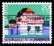 Hagenwil (Thurgau kanton), Pro Patria - kasztelu seria około 1978, obrazy royalty free