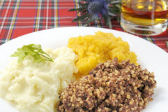 Haggis Neaps and Tatties Stock Photography