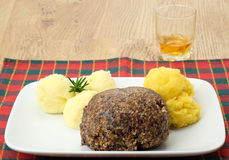 Haggis with neaps and tatties Stock Images