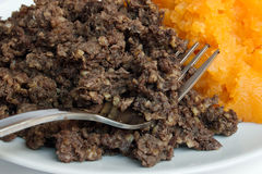 Haggis and neeps detail Royalty Free Stock Photography
