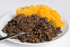 Haggis and neeps detail Stock Image