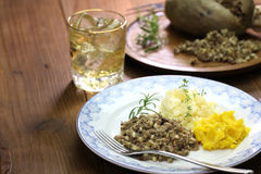 Haggis, neeps, and tatties Royalty Free Stock Photography