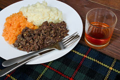 Haggis neeps and tatties Stock Image