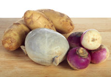 Haggis and raw vegetables Stock Images