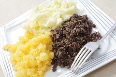 Haggis tatties and neeps Stock Photography