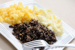 Haggis tatties and neeps Royalty Free Stock Image