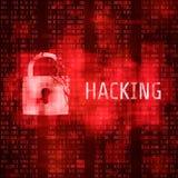 haggler Hackera cyber atak Siekający program na matrycowym kodu tle również zwrócić corel ilustracji wektora royalty ilustracja