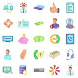 Haggler icons set, cartoon style Royalty Free Stock Images