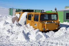 Hagglunds stuck in the snow Stock Photos