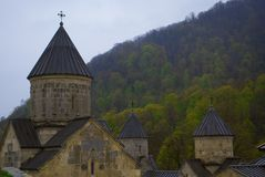 Haghartsin in Tavush Province of Armenia. Haghartsin is a 13th-century monastery located near the town of Dilijan Royalty Free Stock Photography