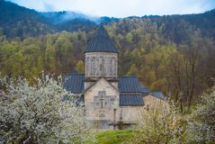 Haghartsin in Tavush Province of Armenia. Haghartsin is a 13th-century monastery located near the town of Dilijan in the Tavush Province of Armenia. It was Royalty Free Stock Images