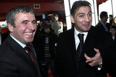 Hagi and Ilie Dumitrescu. At the launching of Hagi's DVD Royalty Free Stock Image