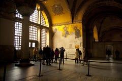 hagia εσωτερική Κωνσταντινούπολη που προσεύχεται το βαλεντίνο της Τουρκίας sophia του s Στοκ Φωτογραφία