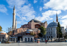 Hagia索非亚:从基督徒大教堂到皇家清真寺 免版税库存图片