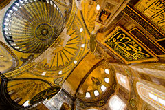 hagia insde Istanbul meczetu sophia Fotografia Stock