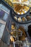 Hagia interior Sophia, museo de Aya Sofya en Estambul Turquía Foto de archivo libre de regalías