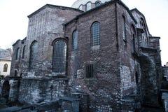 Istanbul, Turkey - 04.03.2019: Hagia Irene church Aya Irini in the park of Topkapi Palace in Istanbul, Turkey. Hagia Irene church Aya Irini in the park of stock photography