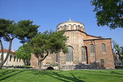 Hagia Irene church in the park of Topkapi Palace in Istanbul Royalty Free Stock Images