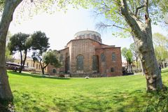 Hagia Irene, Istanbul, Turkey. Hagia Irene or Hagia Eirene, a museum located in the outer courtyard of Topkapi Palace in Istanbul. It`s also know as Saint Irene stock image