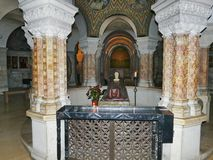Hagia Maria Sion Abbey, Church Of Dormition on Mount Zion, Jerus Royalty Free Stock Image