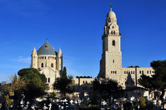 Hagia Maria Sion Abbey church in Mount Zion. Jerusalem, Israel. Royalty Free Stock Images