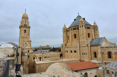 Hagia Maria Sion Abbey church in Mount Zion. Jerusalem, Israel. Stock Photography
