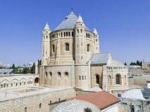 Hagia Maria Sion Abbey, iglesia de Dormition en el monte Sion, Jerus Foto de archivo