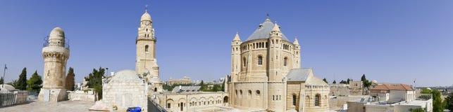 Hagia Maria Sion Abbey, iglesia de Dormition en el monte Sion, Jerus Fotos de archivo libres de regalías