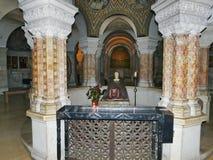 Hagia Maria Sion Abbey, iglesia de Dormition en el monte Sion, Jerus Imagen de archivo libre de regalías