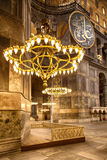 Hagia Sofia chandeliers. Stock Photography
