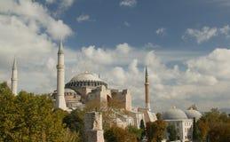 Hagia Sofia in de mening van Istanboel vanaf bovenkant stock foto's