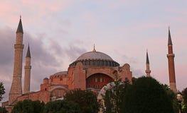 Hagia Sofia at Dusk Royalty Free Stock Photos