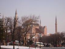 Hagia Sofia in een de winterdag Stock Afbeelding
