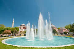 Hagia Sofia and fountain Stock Photography