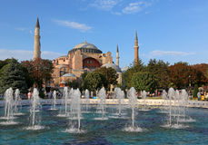 Hagia Sofia and Fountains Royalty Free Stock Photo