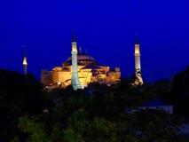 Hagia Sofia illuminated at night