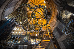 Hagia Sofia. Interior of the Hagia Sofia in Istanbul Royalty Free Stock Photos