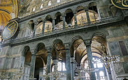 Hagia Sofia Interior Light Royalty-vrije Stock Afbeeldingen