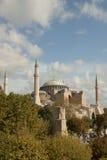 Hagia Sofia in Istanboel in verticale positie stock fotografie