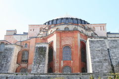 Hagia Sofia in Istanbul. Former church and mosque and current museum Hagia Sofia in Istanbul, Turkey Royalty Free Stock Images