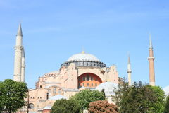 Hagia Sofia in Istanbul. Former church and mosque and current museum Hagia Sofia in Istanbul, Turkey Royalty Free Stock Photos