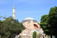 Hagia Sofia in Istanbul. Former church and mosque and current museum Hagia Sofia in Istanbul, Turkey Stock Photo
